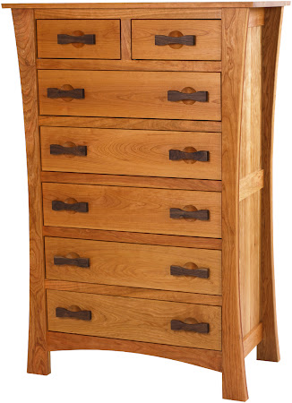 Zen Vertical Dresser in Natural Cherry