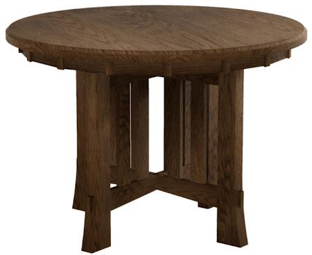 Seville Style Table in Mahogany Oak