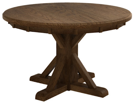 Alexandria Dining Table in Mahogany Oak