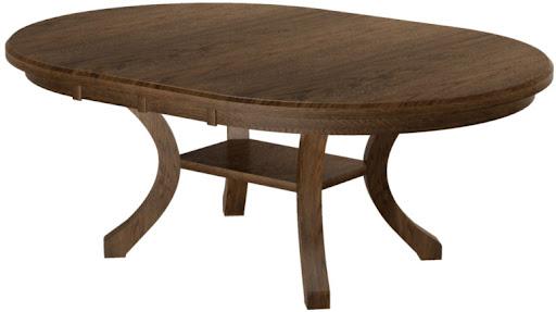"""80"""" x 46"""" Table in Mahogany Oak"""