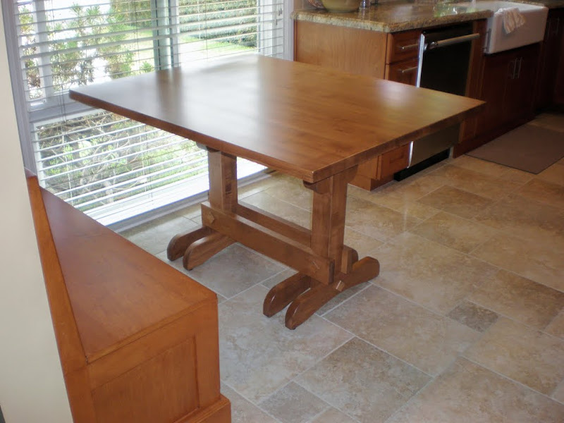 50 x 40 mayfair kitchen table in custom hard maple - Maple Kitchen Table