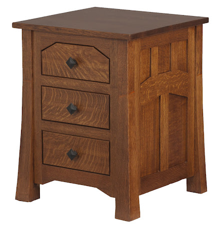 Edmonton Nightstand with Drawers, Autumn Quarter Sawn Oak