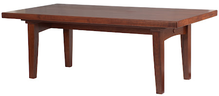 """84"""" x 42"""" Lancaster Table in Chocolate Cherry"""
