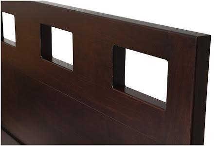 Dakota Platform Bed in Mocha Walnut, Headboard Closeup