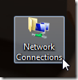 Networks connection shortcut