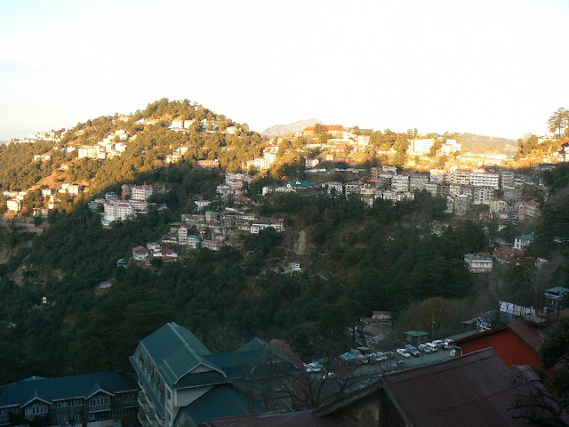 Shimla is very hilly.