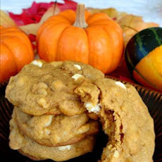 Macadamia Nut White Chip Pumpkin Cookies