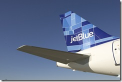 "JETBLUE TURNS FIVE; <br />TAKES DELIVERY OF 71ST AIRBUS A320<br />New York, NY (February 11, 2005) – JetBlue Airways [NASDAQ: JBLU] today turned five.  The airline commenced service at New York's John F. Kennedy International Airport on February 11, 2000, with a ceremonial flight to Buffalo, NY, and back before taking its first commercial flight to Fort Lauderdale, FL, later that day.  Five years later, JetBlue is the largest airline at JFK and ranked as a ""major"" airline by the US Department of Transportation, having achieved annual revenues of more than a billion dollars.<br /><br />To mark the occasion, David Neeleman, JetBlue's Chairman and CEO, and Dave Barger, President and COO, hosted an event for JetBlue crewmembers and customers to greet the arrival of the airline's 71st Airbus A320 aircraft, debuting the fleet's seventh tail fin design, Mosaic.  Earlier in the day, the airline gave away 500 free tickets throughout New York City's five boroughs to support the charity City Harvest.  Ticket seekers had to dress as their favorite JetBlue destination and bring canned goods for the charity.<br />"