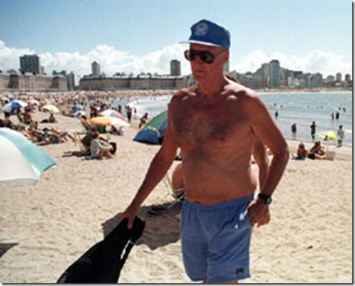 a Balza Martin en la playa