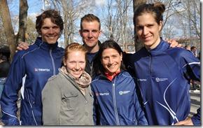 KFUM gänget som var hårda nog att ställa upp på TSM 2011 - Per, Sofie, Lukas, Antje och Lasse