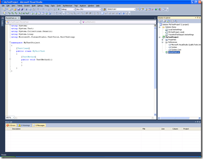 How to Create First Test Project With Vs 2010 Ultimate
