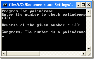 How to Check Palindrome using C#