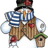 Boneco de neve com casinha e passaro.jpg