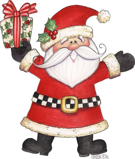 Santa B on santa claus printable cutouts