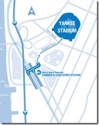 Yankee Stadium MNR Sta Map