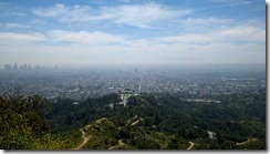View from Mt. Hollywood, Griffith Observatory from above
