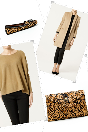Zara camel and leopard