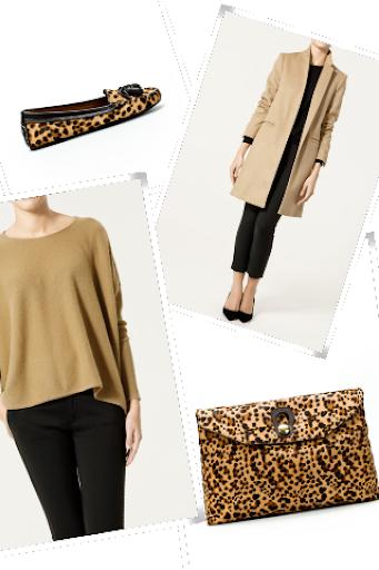 Zara camel and leopard