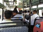 Der sich füllende Bus