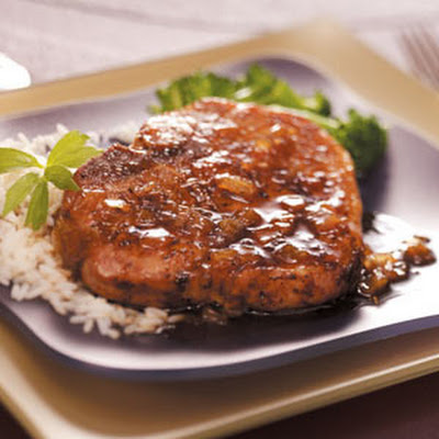 Pork Chops with Ginger Maple Sauce