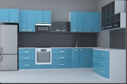Adjust the 3D model of the blue body of cabinet – Free DownLoad