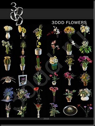 Flowers Collection &ndash; free 3d max download