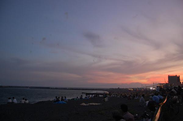 茅ヶ崎、サザンビーチの空(夕焼け)