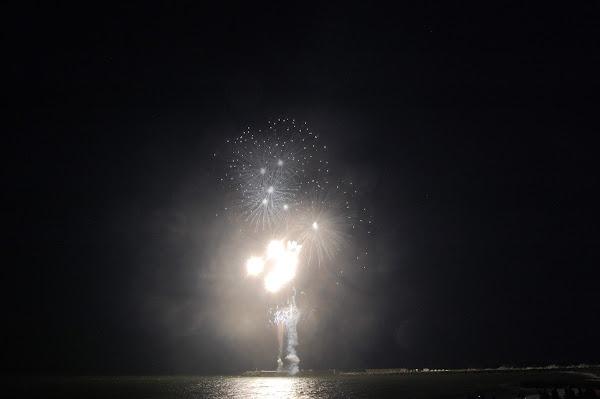 茅ヶ崎、サザンビーチの空(花火大会)