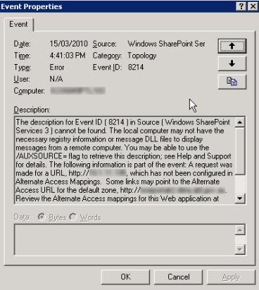 aptimize-bug-sharepoint-2007-event-viewer-2