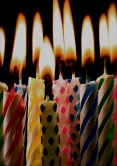 birthday candles without cake