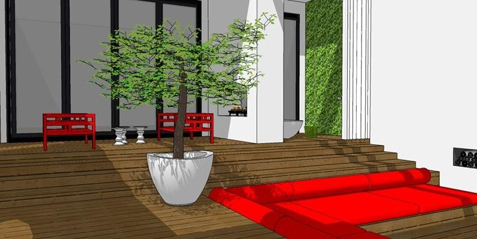 modern asian back garden 2