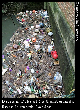 polluted London river