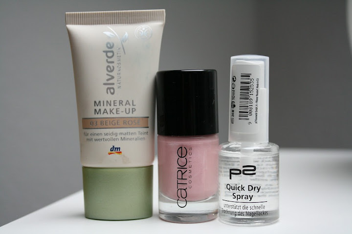 Alverde Mineral Make Up, Catrice Just Married, p2 Quick Dry Spray
