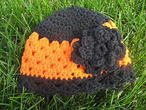 crochet halloween hat