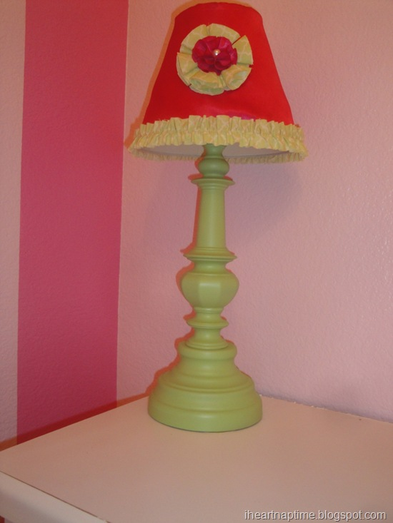 covering a lamp shade