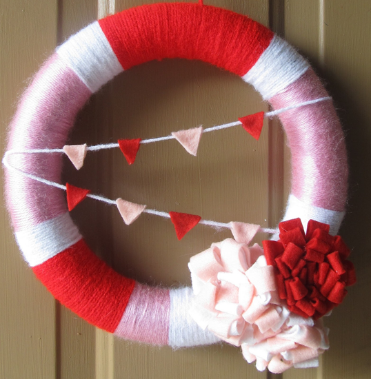 valentines wreath craft