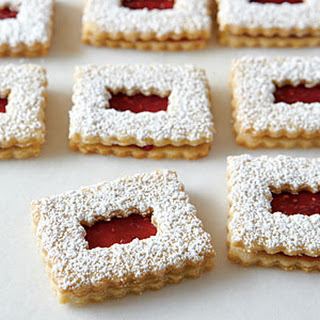 Raspberry Linzer Cookies