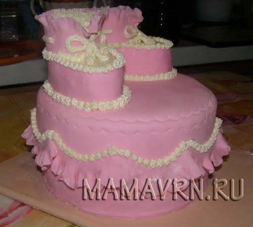 Двухъярусный торт в домашних условиях 734