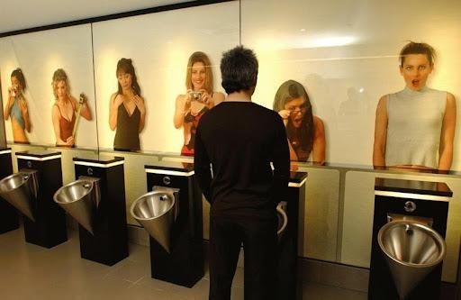 Funny men's rest room