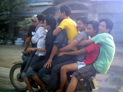 Funny vehicle ride only in Vietnam