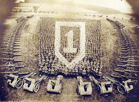 Grenzhausen, Germany - 1st Field Artillery Brigade, 1st Division, 1919 - Amazing  Mass Formation