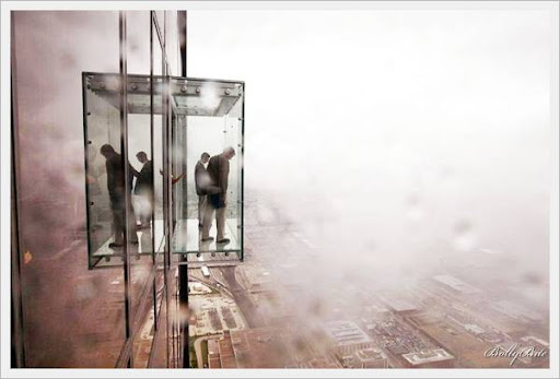 Glass Balcony of Sears Tower in Chicago