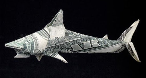origami dollar shark