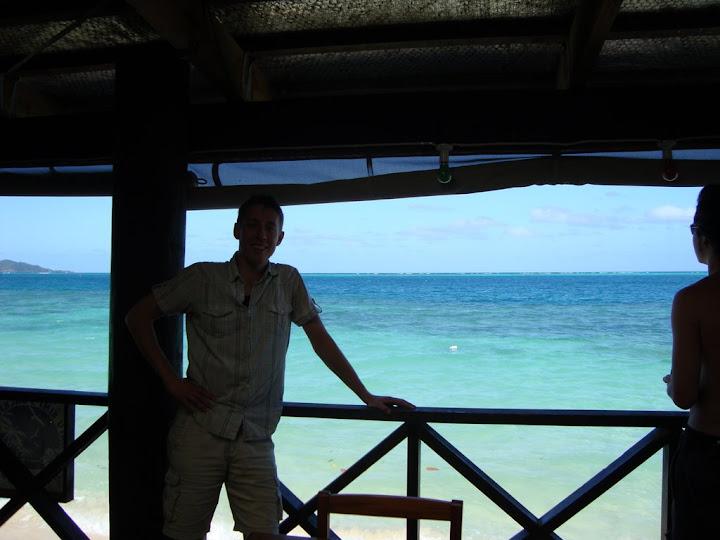 Vanaf het balkon van ons hostel