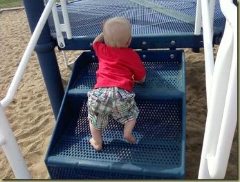 climbing at park