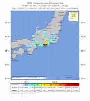 Auswirkungen des Erdbebens am 11.08. in Japan