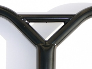 VIP Flow Bars ChroMo black powder coat close up