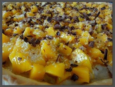 Macaron 4 ever Tarte mangue, coco, passion, choco blanc et amande2