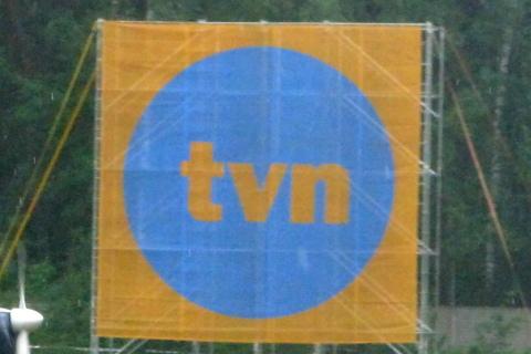 TVN, baner reklamowy.