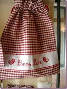 sacchetto portapane rosso